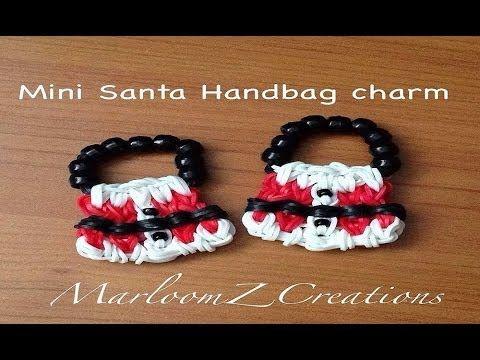 sandylandya.Mini bolso de Santa Charm En un arco iris Loom extendida - Navidad