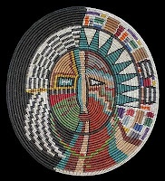 Navajo Changing Woman basket, woven by Elsie Holiday, from Twin Rocks Trading Post blog
