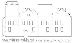 Jour 3: maisons de thé en papier léger (template gratuit) - 25 jours créatifs