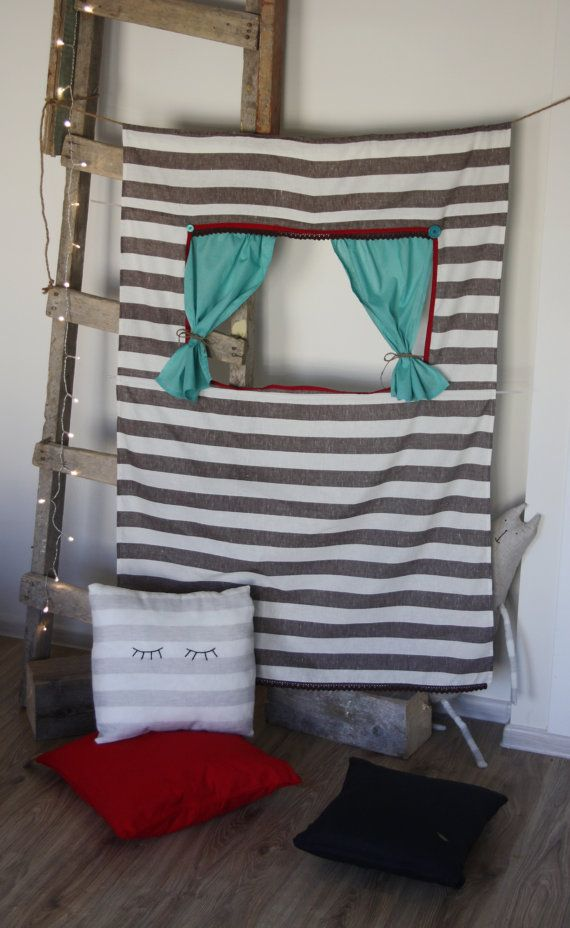 http://www.etsy.com/listing/115389669/doorway-puppet-theater-boniface  Doorway puppet theater