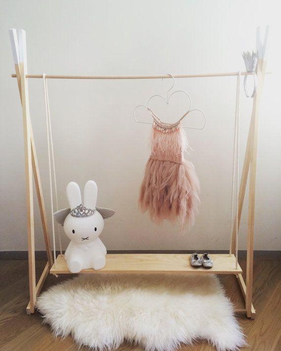 best 20 wooden clothes rack ideas on pinterest. Black Bedroom Furniture Sets. Home Design Ideas