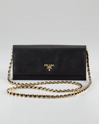 Prada Clutch Gold Chain