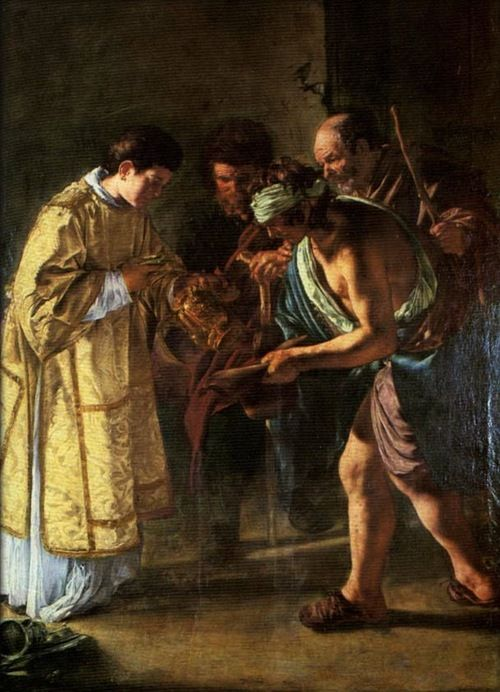 Giovanni Serodine, Saint Lawrence Distributing Alms, c. 1615