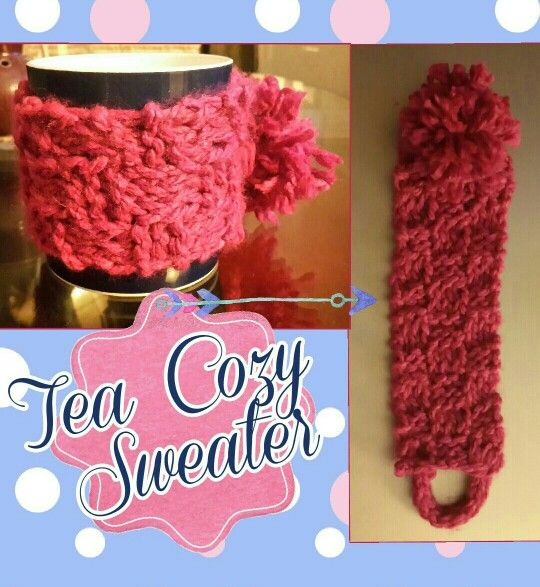 Tea cozy #knitting #pink #cupsweater