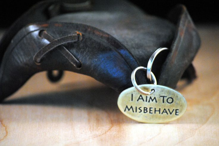 Ferret Tag - Pet Tags - Pet ID Tag - Dog Tag - Dog ID Tag - Custom Dog Tag - Personalized Dog Tag - Cat Tag -  I Aim To Misbehave by TheCopperBone on Etsy https://www.etsy.com/listing/261581447/ferret-tag-pet-tags-pet-id-tag-dog-tag