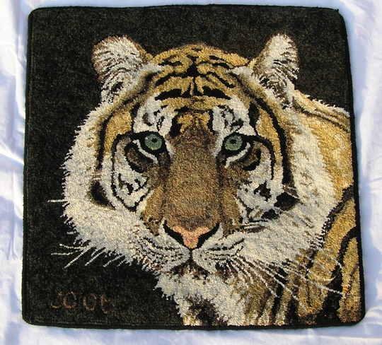 Tiger Rug Doing Goods: 17 Best Images About Hooked Animals On Pinterest