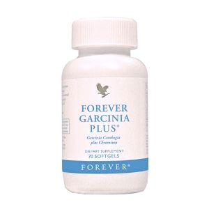 FOREVER GARCINIA PLUS lntegratore utile al controllo del peso. Contiene l'estratto di Garcinia Cambogia, un frutto tipico dell'Asia meridionale. Il suo principio attivo, l'acido idrossicitrico (HCA), aiuta a bloccare la trasformazione dei carboidrati in grassi e riduce l'appetito. Si consiglia di associare Garcinia Plus ad una dieta equilibrata Contenuto: 70 capsule.