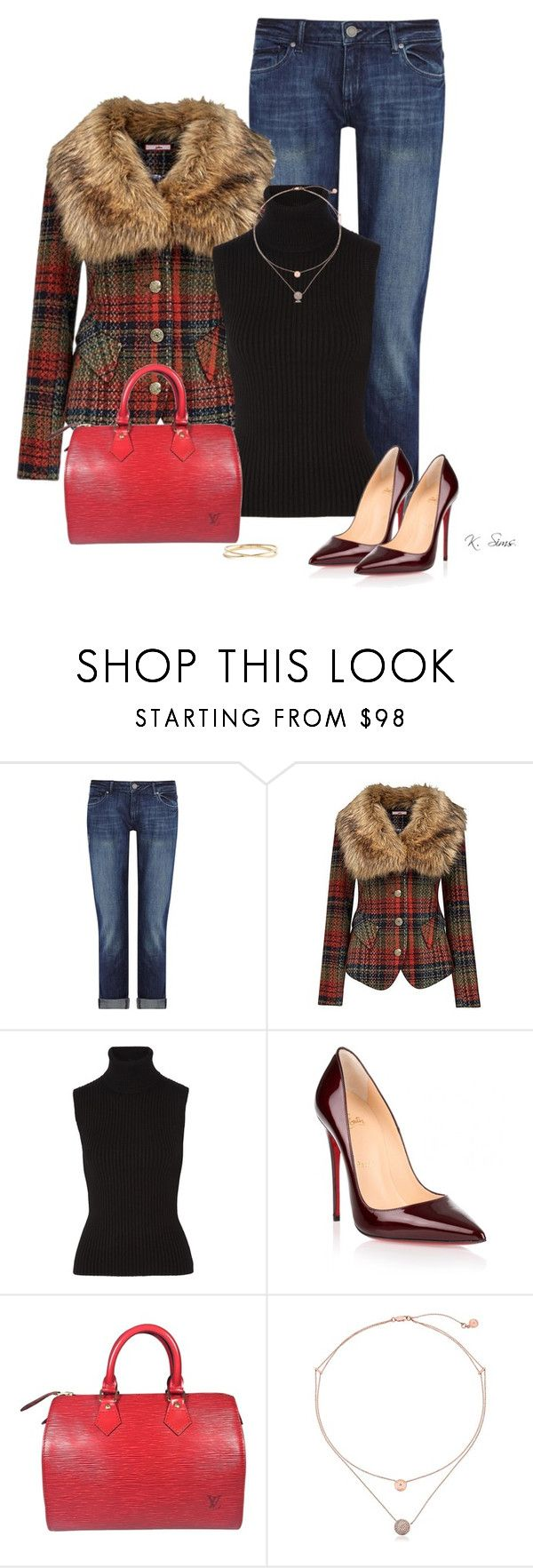 """Oh, the options with this coat!"" by ksims-1 ❤ liked on Polyvore featuring DL1961 Premium Denim, Joe Browns, Michael Kors, Christian Louboutin, Louis Vuitton and Nadri"