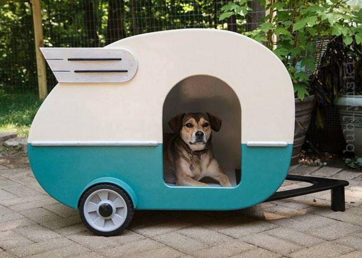 Niche pour chien en forme de caravane ...