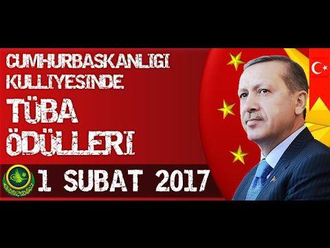 Cumhurbaşkanı Recep Tayyip Erdoğan, TÜBA Ödülleri Töreninde 01 Şubat 2017