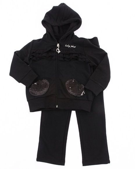 70.00 The French Terry Jogging Set by Baby Phat features: Set consists of zipper hooded sweatshirt and sweatpants