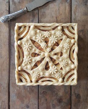 Graphic pie crust.