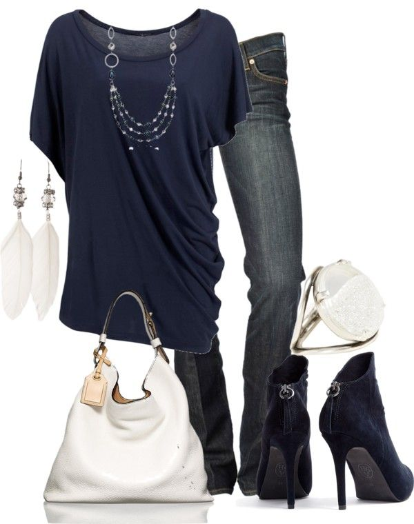 Navy Blue and White outfit