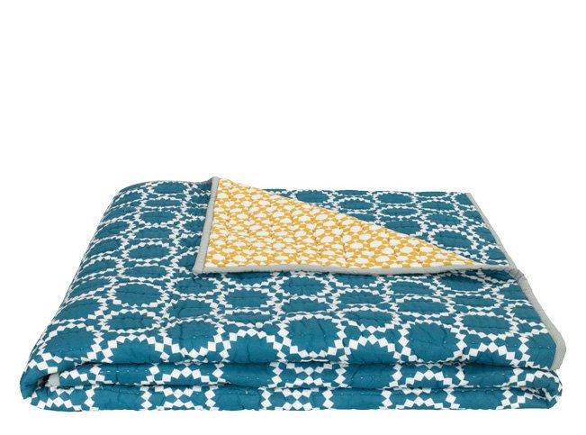 Made Tagesdecke Blaugrun Bed Spreads Patchwork Blanket