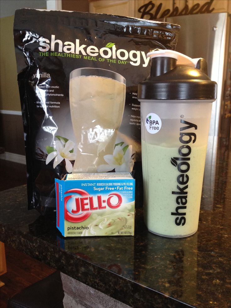 Pistachio Shakeology! So yummy! -1 scoop Vanilla Shake-o -1 cup vanilla almond milk -2 tablespoons sugar free/fat free pistachio pudding Throw it in the blender with some ice and boom! SO flipping delicious! www.beachbodycoach.com/erikawo