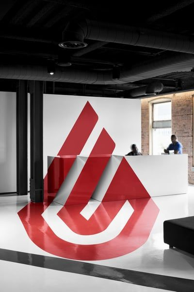 Nice deign for the reception  #office #design #moderndesign http://www.ironageoffice.com/
