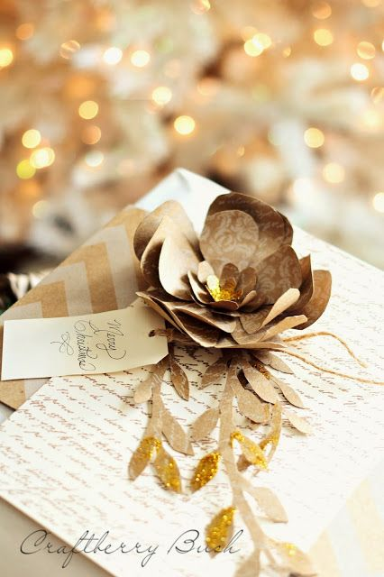 DIY: Christmas Paper Flower Tutorial