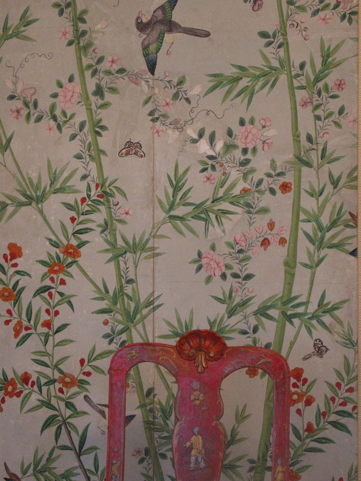 Museum of decorative arts madrid rooms pinterest for Chinoiserie mural wallpaper