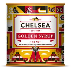 Our 2013 Golden Syrup collector's tin with artwork by Greg Straight. #ChelseaGStin