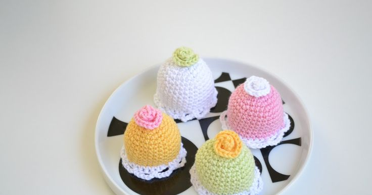 virka liten kaka: Mönster på mini prinsesstårta!