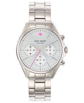 kate spade new york Watch, Women's Chronograph Seaport Stainless Steel Bracelet 38mm 1YRU0199 - Kate Spade - Jewelry & Watches - Macy's