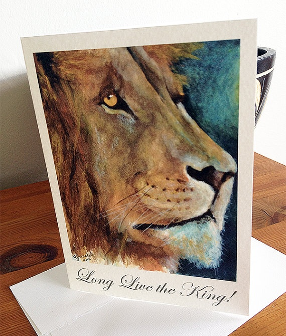 Long Live the King Father's Day Blank Card on Etsy, $4.00 CAD
