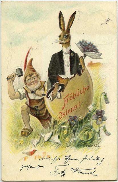 German Easter Card By Crafty Dogma Via Flickr