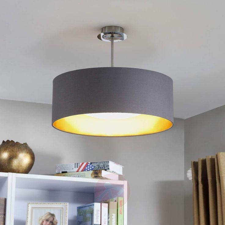 LED-taklampe Coleen i grått og gull-Taklamper-9620644-30
