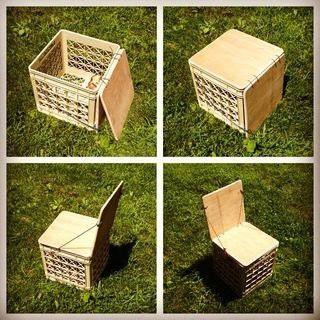 Milk crate chair                                                       …