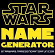 star wars name generator (simple). I just did it and this was the results ... Your Star Wars name is  Antares Crescentflight  A Jedi Knight from the Nar Shadda Sector