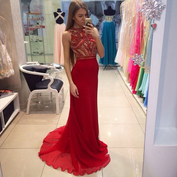 Tight red dresses for prom