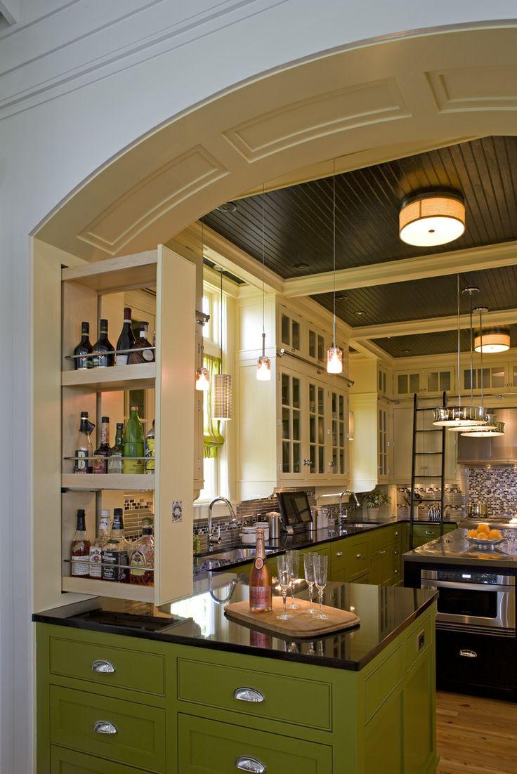 39 best kitchen bar cabinet ideas images on pinterest dresser gourmet and kitchen - Green kitchen cabinets storage ...
