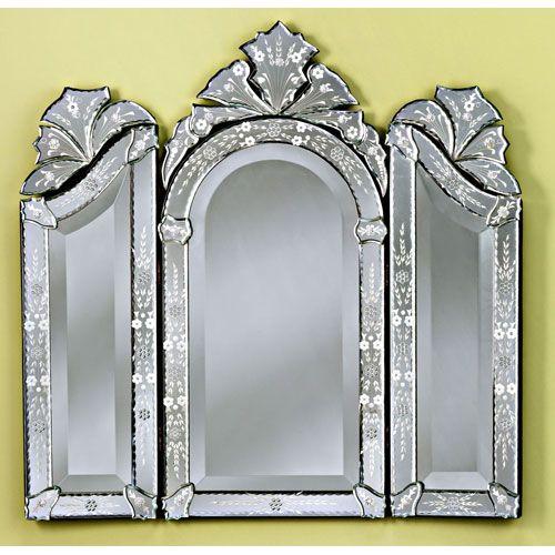 Monet Venetian Mirror Venetian Gems Arched & Crowned Mirrors Home Decor