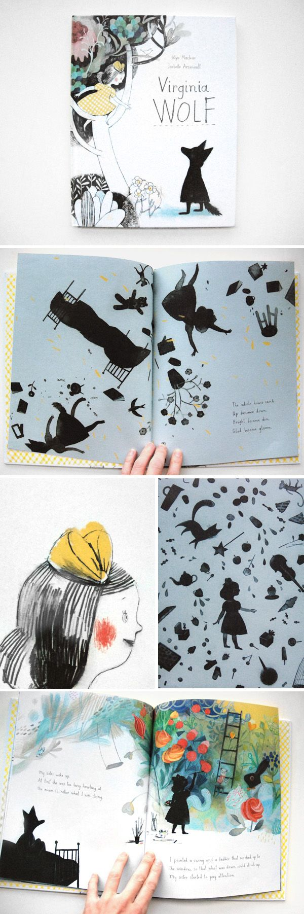 """Virginia Wolf"", de l'auteur Kyo Maclear - Kids Can Press (et en français aux éditions de La Pastèque).   - Some images of the book ""Virginia Wolf"", written by Kyo Maclear and published at Kids Can Press."
