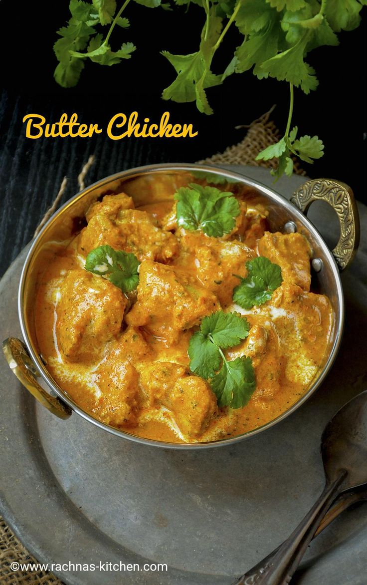 Learn easy butter chicken recipe with step by step pictures. Indian Butter chicken is a mild creamy gravy with juicy and tender chicken.