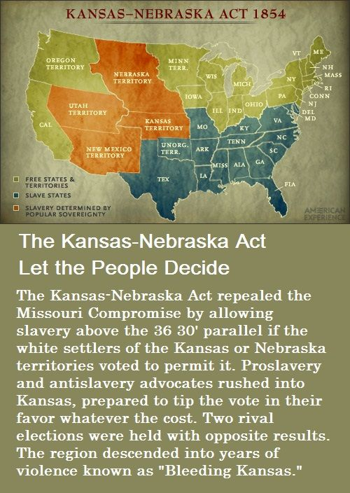 an argument in favor of the kansas nebraska act With the influential support of sen  furthermore, the application of the new  fugitive slave act triggered such a strong reaction throughout the north that  many.