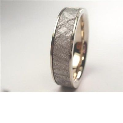 Meteorite Ring inlaid in Palladium