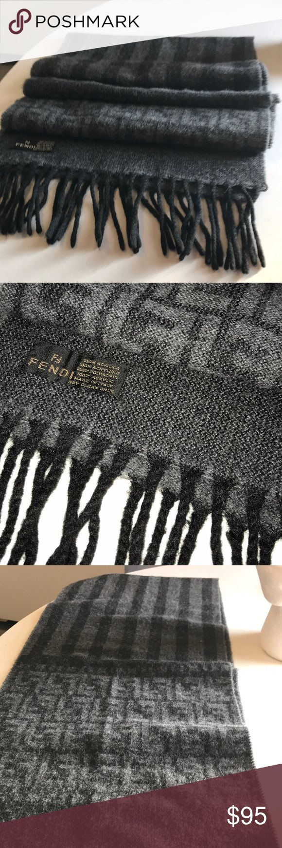 Fendi scarf Authentic FENDI monogrammed & stripped & fringed long scarf . Super cute Fendi Accessories Scarves & Wraps