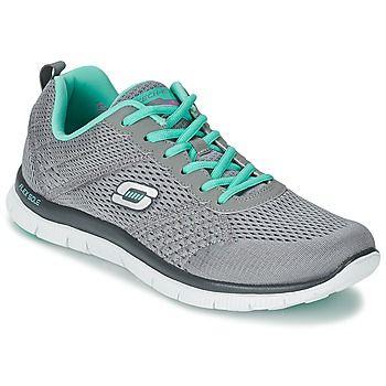 Skechers es la especialista en materia de deporte. La marca ha imaginado el modelo Flex Appeal, aquí presentado en color gris. Un modelo completo que se adapta a todo tipo de de entrenamiento #deportivas #zapatos #zapatosmujer #moda #spartoo  #mujer #deporte