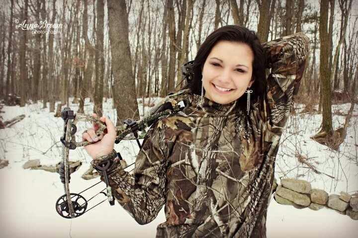 Hunting senior photo, individual portrait, Hoyt bow, bow hunting.