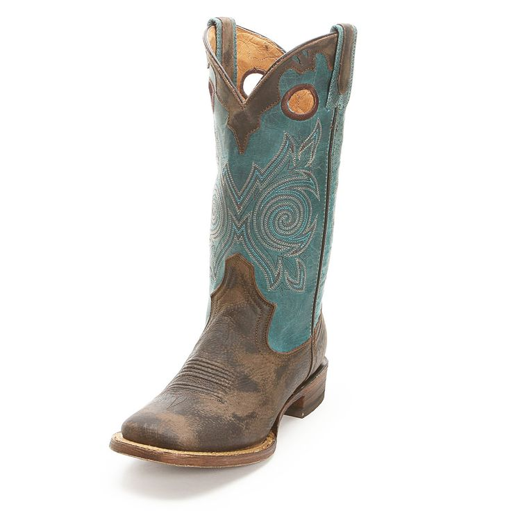 Rocky Brown Square Toe Cowgirl Boots - Women's Stockman & Roper Boots - Women's Boot Styles - Cowgirl Boots - Boots