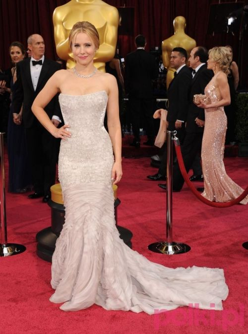 Oscary 2014: Kristen Bell. Taka inspiracja to świetny wybór dla tych Panien Młodych, które szyk i elegancję cenią sobie najbardziej!