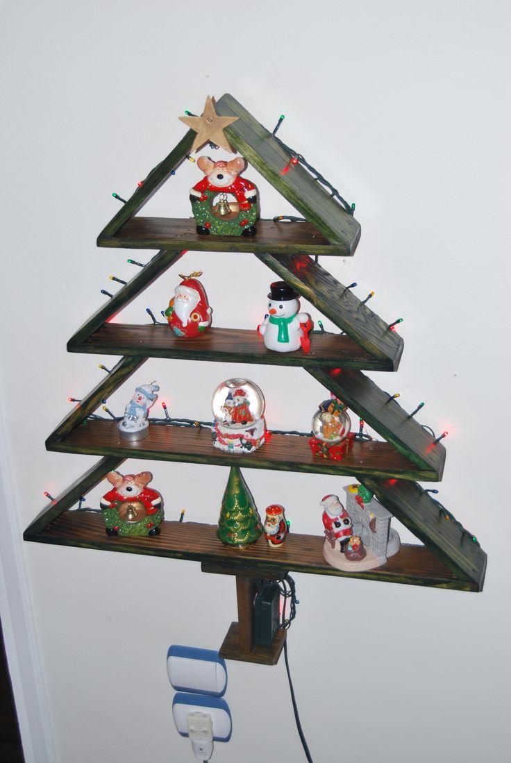 Χριστουγεννιάτικο δέντρο από παλετόξυλα τελική μορφή