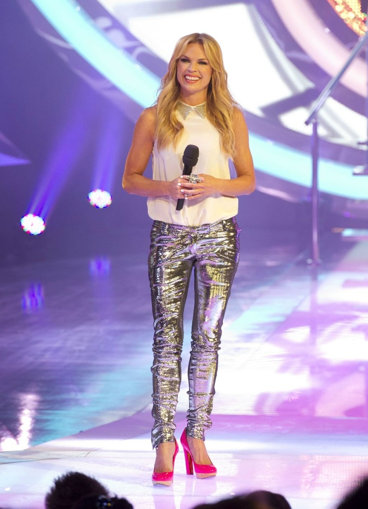 Sonia Kruger wearing BALMAIN pants & LANVIN pink shoes for the launch show of Big Brother Australia on Channel 9 - all available @ COSMOPOLITAN SHOES, Double Bay, Sydney, Tel: (02) 9362 0510.