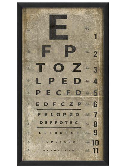 Eye Chart (White)