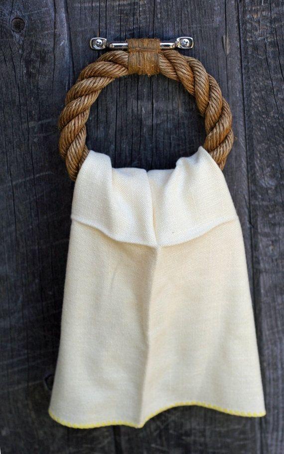 Decorar con cuerda en estilo náutico