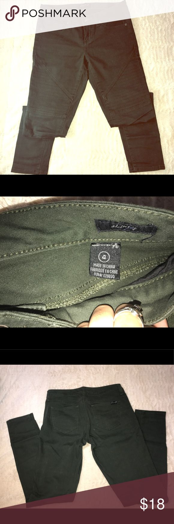 Military Green pants Military green pants excellent condition . Worn once only . These fit excellently good, super comfy :) medium rise Seven7 Pants Leggings