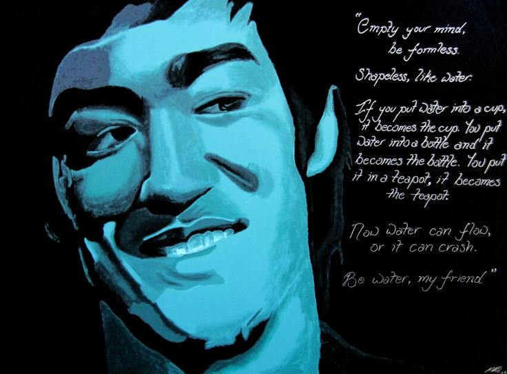 """Be Water"" - IconArtCanberra - acrylic painting - Bruce Lee"