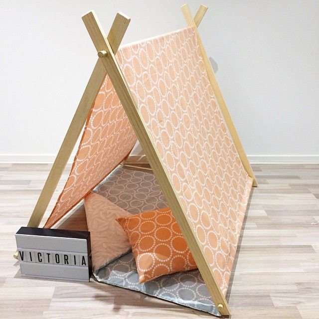 Our beautifu peachy play tent!