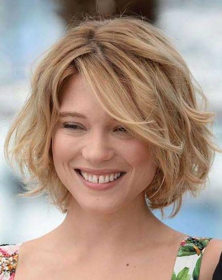 Short Einfache Welliges Haar